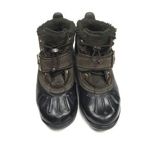 Timberland duck style leather boys boots Sz1